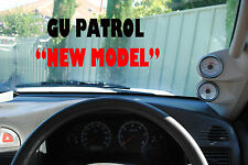 2 GAUGE PILLAR POD TO SUIT NISSAN GU Y61 PATROL ALL YEARS 52MM NOT PAINTED Black