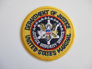 vintage 1980s Department of Justice United States Marshal Police Patch