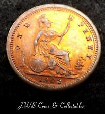 Tiny 1902 Edward VII Model Penny Coin By Lauer Toy Money Ref - T/M