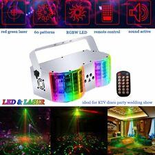 Sound Aktiv DMX Laser LED RGB Lichteffekte Xmas Party Show Disco Bühnenlicht EU