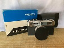 Yashica Electro 35 Gold Mecanica, Boxed with Case and Brochure