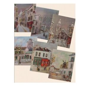 Maurice Utrillo Scenes of Paris - Set of 6 Fine Art Prints (11 x 9 inches each)