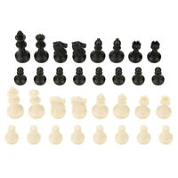 32 Piece Carved Chess Chessmen Piece Hand Crafted Set Puzzle Game Gift