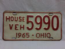 Vintage 1965 Ohio House Vehicle License Plate