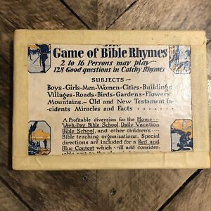 Vintage Game of Bible Rhymes Goodenough & Woglom New York  RELIGIOUS