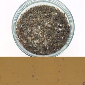 Bullseye Tan Beige Brown Transparent Frit Medium 20g Fused Fusing Glass COE90