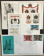 Gibraltar 4 commemorative covers Royal Weddings and Silver Jubilee 1972 - 1981