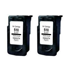 2pcs Remanufactured Ink Cartridge for Canon PG 510 PG-510 Black for PIXMA MP240