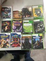 Lot Of 12  L Xbox 360 Wii And Nintendo GameCube Games As Seen In Pics
