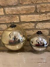 Pottery Barn Ornament Candle Large Gold Medium Silver Christmas Decor Mercury