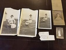 5 vintage antique photos portraits Eva & Herbert Stroud family Tucson AZ history