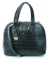 DKNY Donna Karan Black Leather Croc Embossed Shoulder Bag Medium Handbag RRP£300