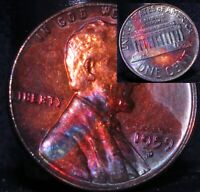 UNCIRCULATED 1959 D BU (35h) Rainbow Monster Toned Penny Lincoln Memorial