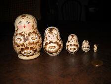 Russian Nesting Dolls Wooden Toys 5-pcs
