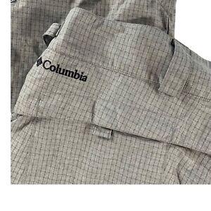 Columbia Men's Nylon Waterproof Insulated Cargo Snow Ski Pants Gray • 2XL
