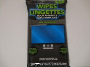 Electronic Wipes - Safe On Screens Cleans Cell Phones, Tablets, Computers & TV's