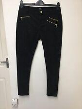 Ladies F&F Black Jeans Size 14 Long