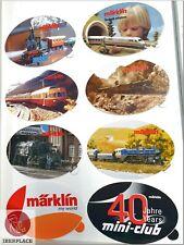 Z H0 scale ho Märklin mini-club advertising Sticker Aufkleber Pegatina Set 8x