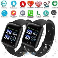 Smart Watch IP67 BT4.0 Heart Rate Fitness Step Tracker Blood Pressure Monitor US