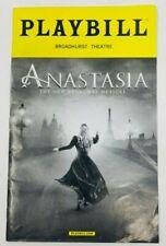 July 2017 Anastasia Broadway Playbill with Original Cast