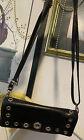 BRIGHTON City Flap Grommeted Black Cell Phone Case Purse WALLET Organizer bag