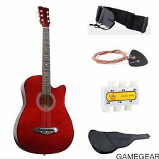 Orange New Beginners Acoustic Guitar With Guitar Case, Strap, Tuner and Pick USA