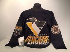 Vintage 1993 Pittsburgh Penguins Robo Logo CCM Jersey + Crown Royal Whisky Glass