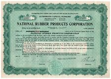 National Rubber Products Corporation Preferred Stock Certificate