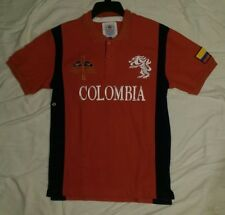 NWT WORLD CUP AMERICAN RANGER POLO COLOMBIA SOCCER SHIRT Mens Red MEDIUM