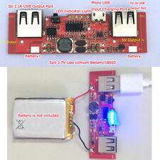 5V 2A Dual USB Lithium Li-ion 18650 Battery Charger Module DIY Mobile Power Bank