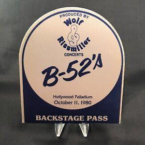 The B 52s Hollywood Palladium Concert Backstage Pass Satin Sticker Fasson 1980