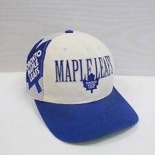 Vintage Toronto Maple Leafs Sports Specialties Laser Snapback Hat OSFA 90s NHL
