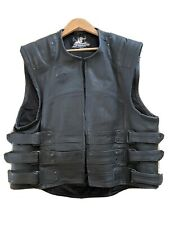 Speed & Strength heavy duty leather biker vest Harley Owners Group 2XL
