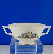 LENOX RUTLEDGE P303,2-HANDLE CREAM SOUP BOWLS CUPS ENAMELED FLOWERS