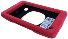 Cover for NUVI 3597lmthd Faux Suede Red Case Made in the USA by GizzMoVest LLC