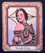 Wanda Perry 1934 Garbaty Film Star Series 2 Embossed Cigarette Card #204