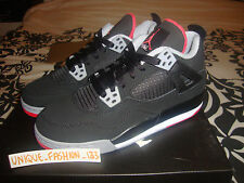 2012 NIKE AIR JORDAN RETRO 4 IV GS BRED US 6.5Y UK 6 EU 39 BLACK 408452-089