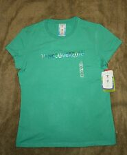 2010 VANCOUVER WINTER OLYMPICS WOMEN'S GREEN BAMBOO SHIRT SIZE: EX-LARGE