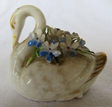 "Vintage Gold Royal Adderley Floral Bone China Miniature Swan Bird England 2"""