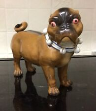 """More details for antique china pug dog  by """"conta boehme""""german"""