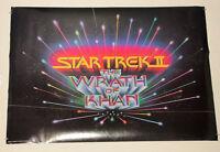 Original 1982 Star Trek ll The Wrath of Khan 31 by 22 inch movie poster: 1980's