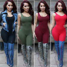 Womens Casual Long Jumpsuit Sleeveless Playsuit Backless Romper Bodycon Clubwear