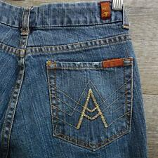 7 Seven for All Mankind Size 27X30 A Pocket Women's Jeans Boot Cut Blue
