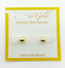 Gold-Plated Sterling Silver Stud Earring  Msrp $60.00 *NEW WITH TAG*