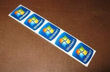 5 pcs of Microsoft Windows 7 18mm x 18mm Sticker Label Case Badge Logo Wins Win