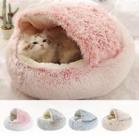 Comfy Cat Dog Beds Pet Cushion House Soft Warm Kennel Blanket Nest Washable Beds