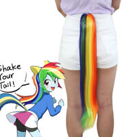 My Little Pony Tail Rainbow Dash Hair Fall Tie on Cosplay Halloween Extension