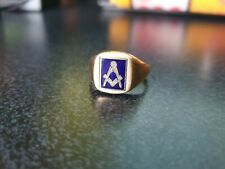 More details for 9ct gold masonic swivel ring size s