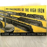 """GILBERT AMERICAN FLYER TRAINS """"NEW CHALLENGERS OF THE HIGH IRON"""" CATALOG 1939 US"""