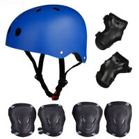 Adult Kids Protective Helmet+Protector Gear Set Bike Cycling Safety Helmet Skate
